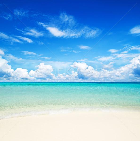 Tenger gyönyörű tengerpart trópusi víz háttér Stock fotó © Pakhnyushchyy