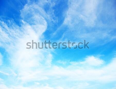 Chmury Błękitne niebo tle piękna lata niebieski Zdjęcia stock © Pakhnyushchyy