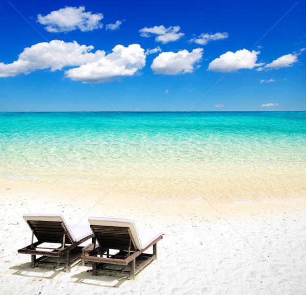 Mer belle plage tropicales fond été Photo stock © Pakhnyushchyy