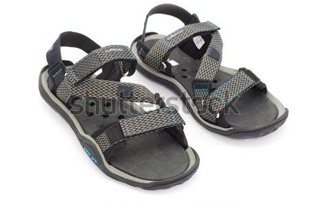 Sandalen geïsoleerd witte mode voet schoen Stockfoto © Pakhnyushchyy