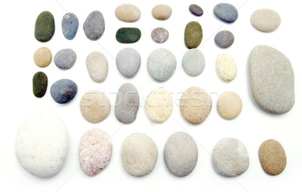 バランスのとれた 石 スタック 白 岩 石 ストックフォト © Pakhnyushchyy