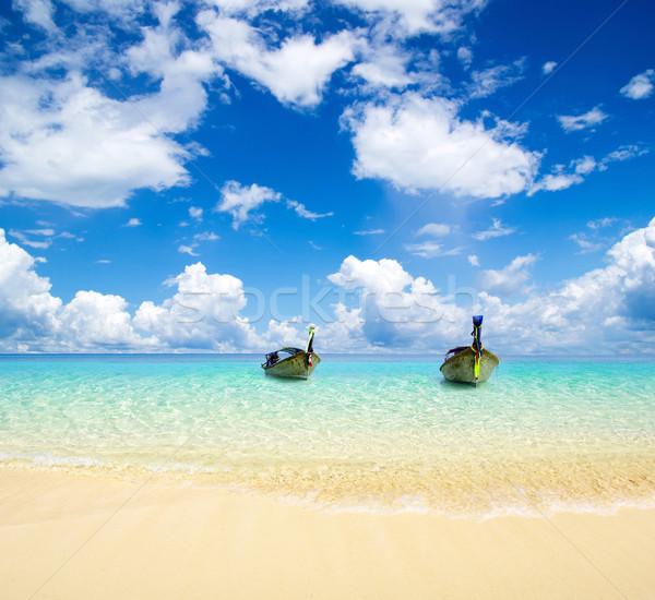 Mer belle plage tropicales ciel océan Photo stock © Pakhnyushchyy