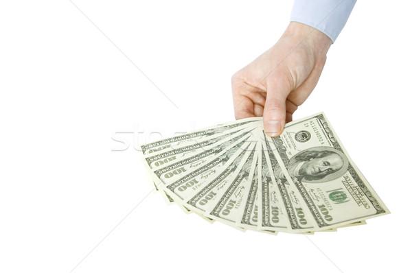 Money in hands Stock photo © Pakhnyushchyy