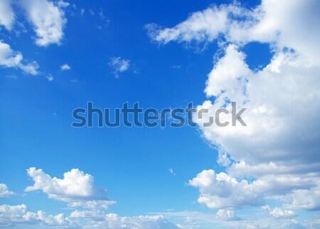 Nuvoloso cielo sole blu natura skyline Foto d'archivio © Pakhnyushchyy