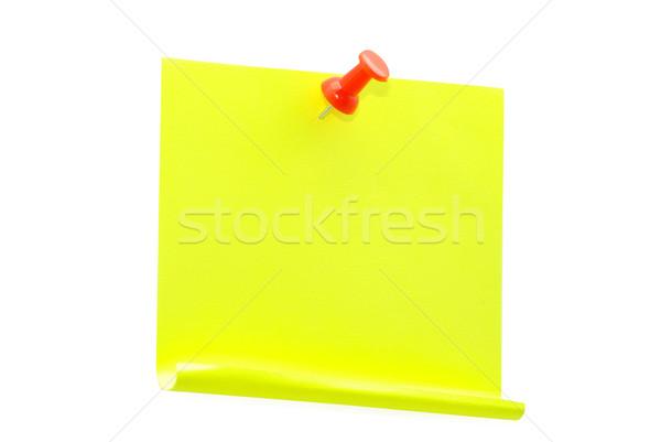 Rojo aislado blanco papel Foto stock © Pakhnyushchyy