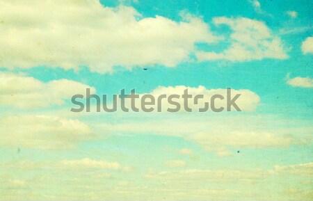 Retro textúra felhők fal absztrakt természet Stock fotó © Pakhnyushchyy