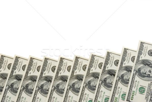 Dollar Geld weiß Bank Markt Muster Stock foto © Pakhnyushchyy