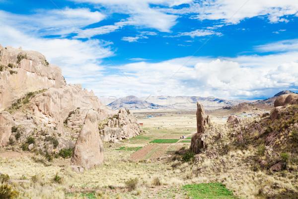 пейзаж горные путешествия Панорама землю холме Сток-фото © Pakhnyushchyy