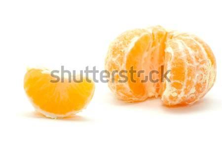 Mandarino pelati isolato bianco alimentare frutta Foto d'archivio © Pakhnyushchyy