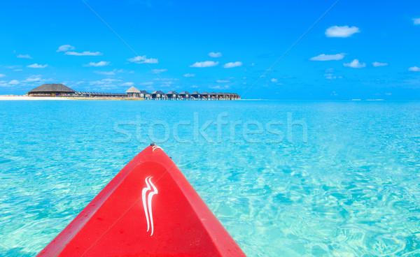 美しい ビーチ 水 自然 風景 海 ストックフォト © Pakhnyushchyy