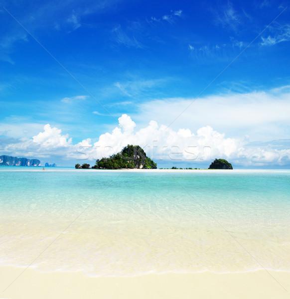 Playa tropicales mar hermosa agua fondo Foto stock © Pakhnyushchyy