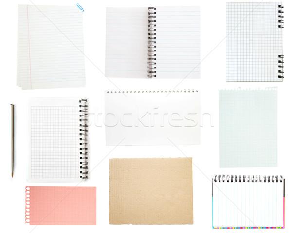 collection of old note paper Stock photo © Pakhnyushchyy