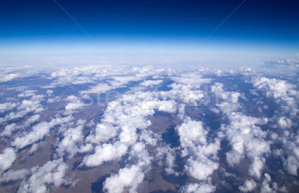 Hemel antenne wolken natuur schoonheid Blauw Stockfoto © Pakhnyushchyy