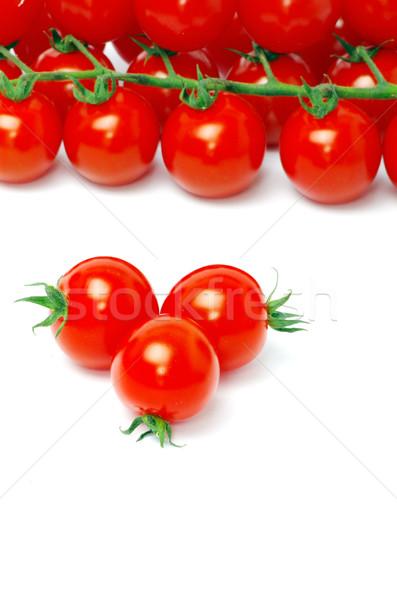 помидоры черри изолированный белый текстуры здоровья рынке Сток-фото © Pakhnyushchyy