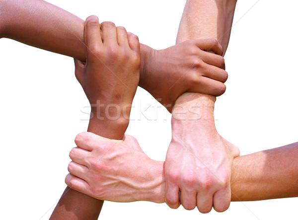 рук белый команде дружбы стороны сеть Сток-фото © Pakhnyushchyy