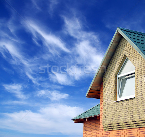 home on sky Stock photo © Pakhnyushchyy