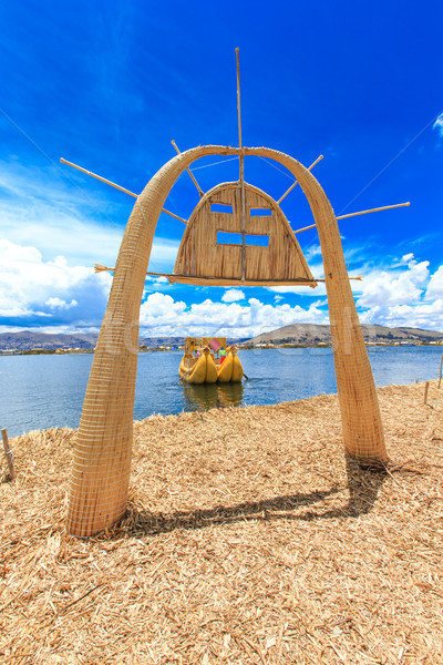 Boot meer vrouw natuur cultuur kano Stockfoto © Pakhnyushchyy