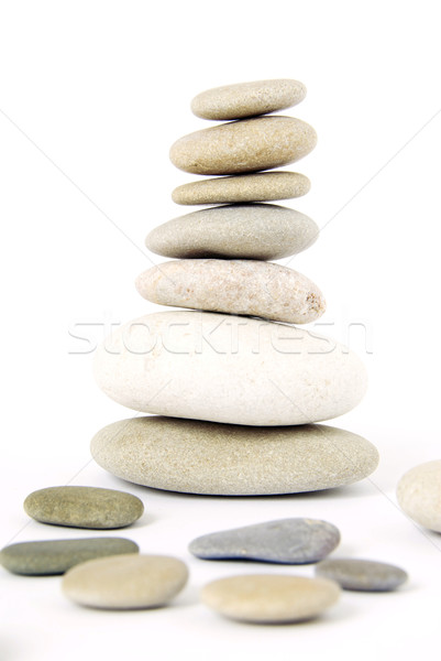 сбалансированный камней белый рок каменные Сток-фото © Pakhnyushchyy