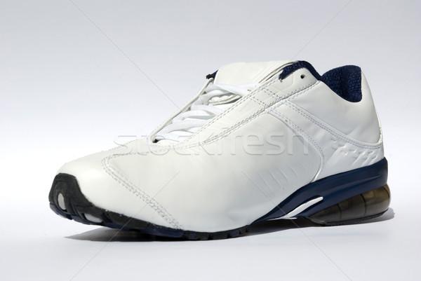 Loopschoenen witte gymnasium schoenen opleiding leder Stockfoto © Pakhnyushchyy