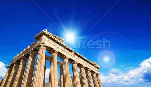 Partenon Acrópole Atenas Grécia antigo templo Foto stock © Pakhnyushchyy