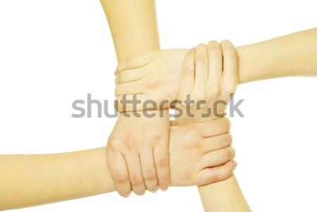 Serrer la main deux hommes isolé blanche affaires Photo stock © Pakhnyushchyy