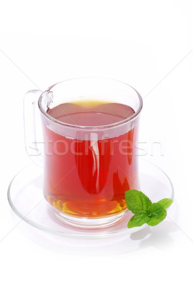 Chá folha de verde beber Foto stock © Pakhnyushchyy