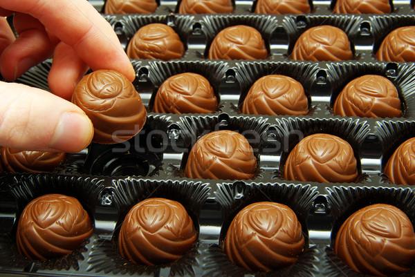 ízletes finom csokoládé cukorka desszert ünnep Stock fotó © Pakhnyushchyy