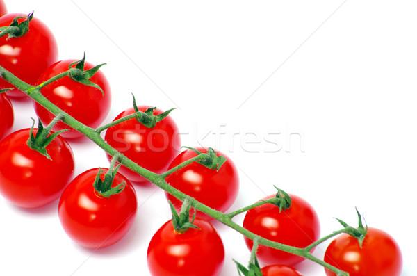 Tomaten kerstomaatjes geïsoleerd witte textuur gezondheid Stockfoto © Pakhnyushchyy