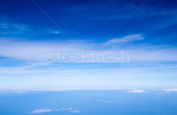 Cielo cielo blu nubi sole spazio skyline Foto d'archivio © Pakhnyushchyy