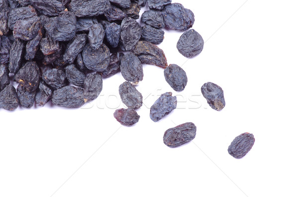 Passas de uva isolado branco comida saúde preto Foto stock © Pakhnyushchyy
