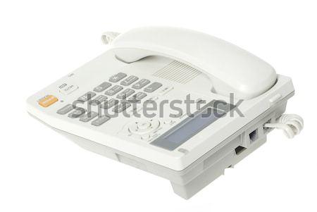Stock photo: white telephone