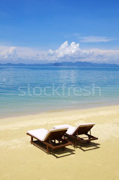 Strand tropische zee mooie water achtergrond Stockfoto © Pakhnyushchyy
