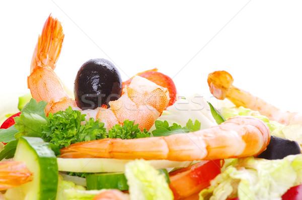 サラダ プレート 白 テクスチャ 食品 背景 ストックフォト © Pakhnyushchyy