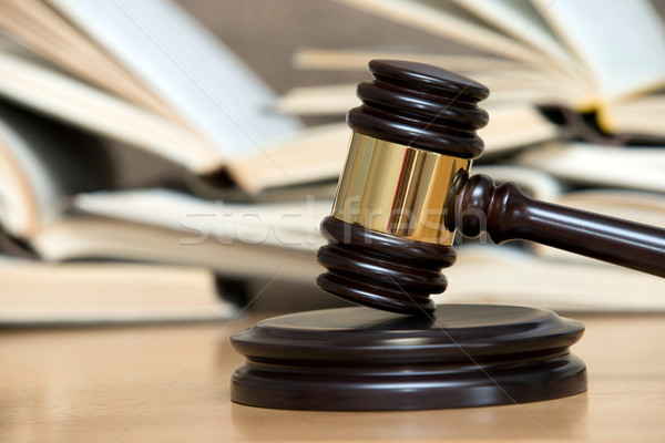 wooden gavel and books  Stock photo © Pakhnyushchyy