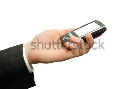 hands with communicator Stock photo © Pakhnyushchyy