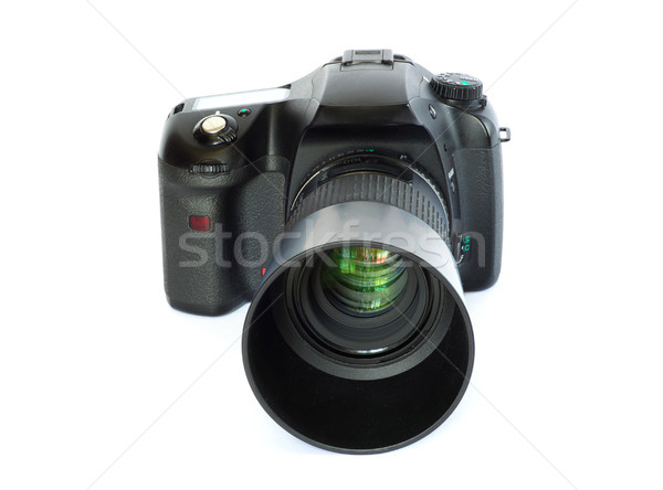 камеры черный цифровая камера изолированный белый профессиональных Сток-фото © Pakhnyushchyy
