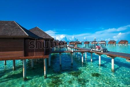 Plaj su doğa manzara deniz yaz Stok fotoğraf © Pakhnyushchyy