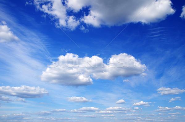 Błękitne niebo biały chmury charakter świetle przestrzeni Zdjęcia stock © Pakhnyushchyy