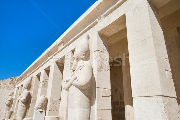 Tempel luxor afrika standbeeld geschiedenis godsdienst Stockfoto © Pakhnyushchyy
