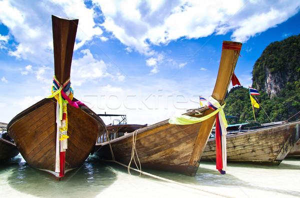 longtail boats Stock photo © Pakhnyushchyy