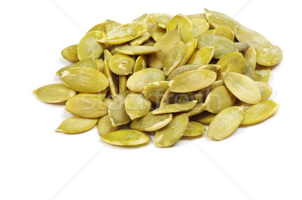 Kürbis Samen frischen isoliert weiß Essen Stock foto © Pakhnyushchyy