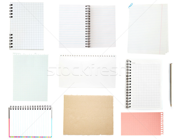 collection of old note paper Stock photo © Pakhnyushchyy