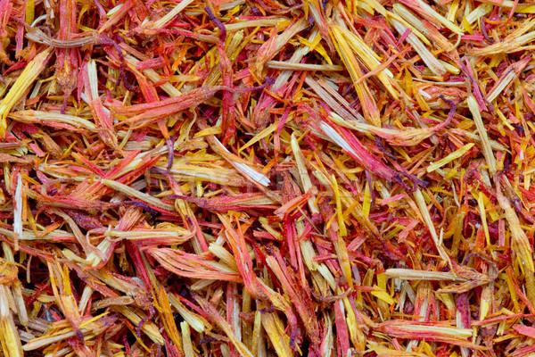 Zafferano essiccati fiore arancione piatto asian Foto d'archivio © Pakhnyushchyy