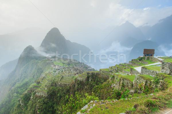Gökyüzü şehir orman manzara kaya mimari Stok fotoğraf © Pakhnyushchyy