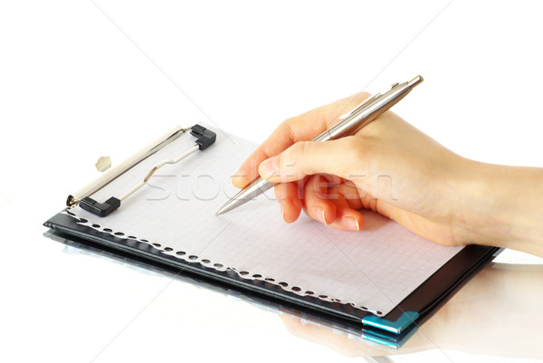 hand and pen  Stock photo © Pakhnyushchyy