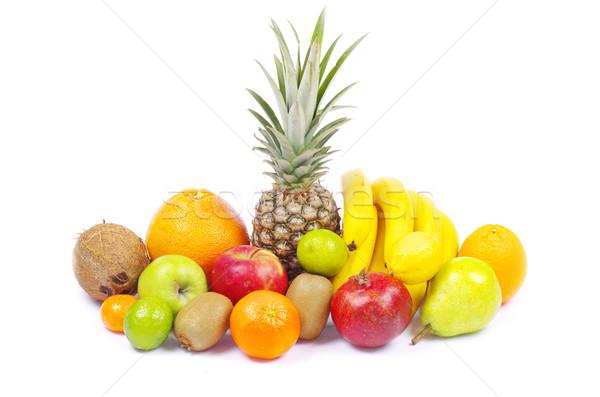 果物 孤立した 白 オレンジ グループ 背景 ストックフォト © Pakhnyushchyy