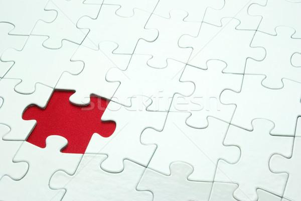 white puzzles Stock photo © Pakhnyushchyy
