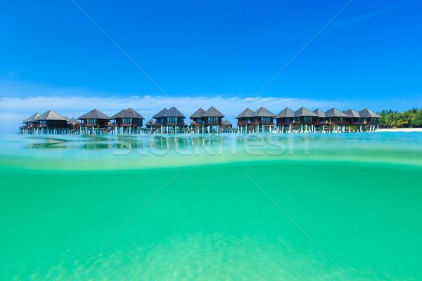 Plaj su gökyüzü manzara yaz mavi Stok fotoğraf © Pakhnyushchyy
