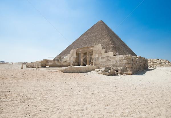 пирамидами красивой небе Гизе африканских пирамида Сток-фото © Pakhnyushchyy