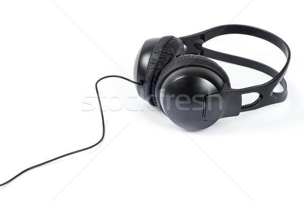 Hoofdtelefoon geïsoleerd witte muziek technologie achtergrond Stockfoto © Pakhnyushchyy